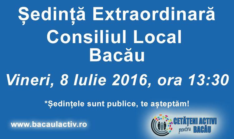 Vineri, 8 iulie, noul Consiliu Local se întruneşte în şedinţă extraordinară
